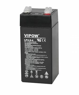 4V 4.9Ah Vipow LEAD-ACID BATTERY CE  HQ 43x43x4100mm  High Quality