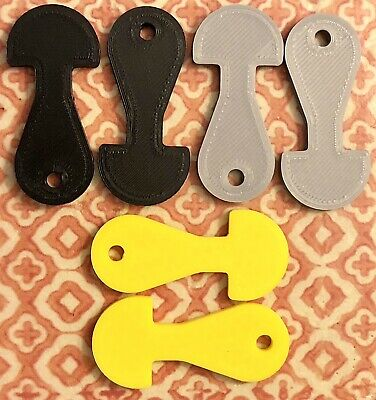 SIX 6 Removable Shopping Trolley Tickler Token Key Coin Unlock Coles Woolies