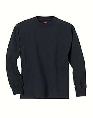 24560ea2 Hanes Youth ComfortSoft TAGLESS Long-Sleeve T-Shirt Black S New 2.99  Shipping