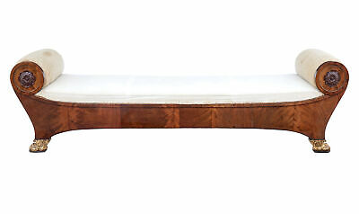 Early 19Th Century Classical Danish Flame Mahogany Daybed