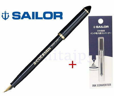 Sailor Fude De Mannen-Navy - Calligraphy Fountain Pen+Converter
