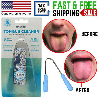 Dr. Tung's Professional Stainless Steel Tongue Cleaner Scraper Adult Colors Vary