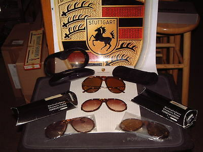 ea011f2f2f73 Porsche Design -5659 German Made Sunglasses Small W  4 Sets Of Nos Lenses