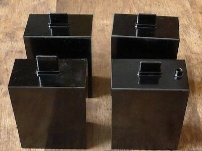Four Developing processing cine film tanks for photographic plates, 1970 YEAR