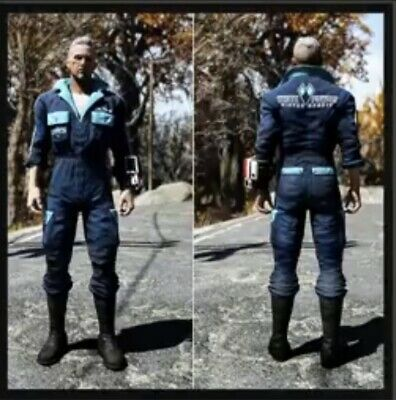 FALLOUT 76 XBOX One RARE White Powder Jumpsuit Outfit