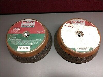 """Lot of 2"" United Abrasives SAIT 26025 Cup Wheel 6x2x5/8-11, CA16 -New/Old Stock"