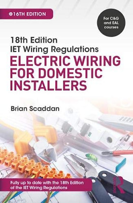 IET Wiring Regulations: Electric for Domestic Installers, 1 (Paperback) NEW BOOK