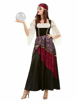 Ladies Deluxe Fortune Teller Costume Circus Showman Womens Fancy Dress Outfit