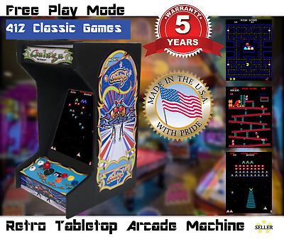 Classic Galaga Upright Bartop/Tabletop Arcade Machine With 412 Classic Games