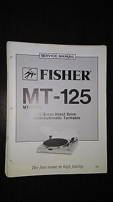 Fisher mt-125 Service Manual original repair book stereo turntable record player