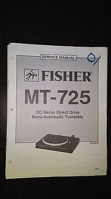 Fisher mt-725 Service Manual original repair book stereo turntable record player