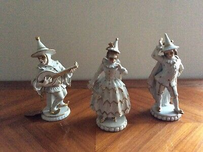 sitzendorf dresden germany Volkstedt old figurine masquerade ball porcelain RARE