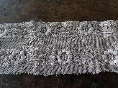 Ancienne Dentelle Couture Mercerie Embroidery Ruban 7 Cm X 1.04 Metres L3