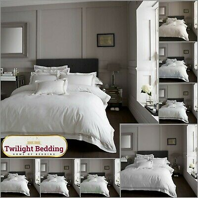 HOTEL Collection Duvet Set Embroidered Quilt Cover Pillow Case Luxury Bedding