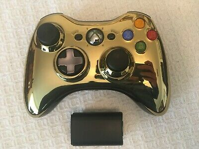 OEM Microsoft Xbox 360 Special Edition Chrome Series Gold Wireless Controller
