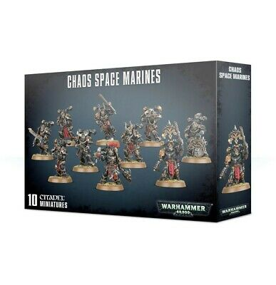 CHAOS SPACE MARINES Warhammer 40k 10 miniature Citadel 40,000 data cards