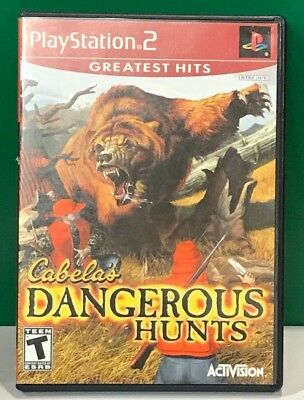 Cabela's Dangerous Hunts GREATEST HITS (COMPLETE) (Sony PlayStation 2, 2003)