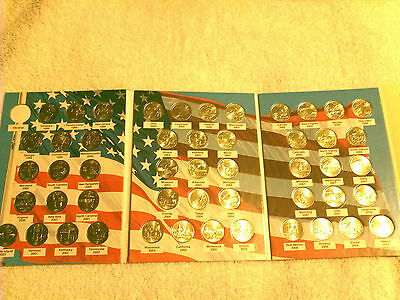 1999-2008 State Quarters Uncirculated Set Of 50 Denver Mint With Album