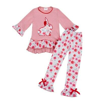 Parya Bunny Rabbit Top with Leggings Set For Girls Perfect For Easter