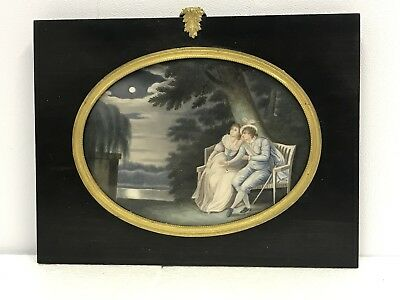 French Antique 19th/20th Century miniature painting