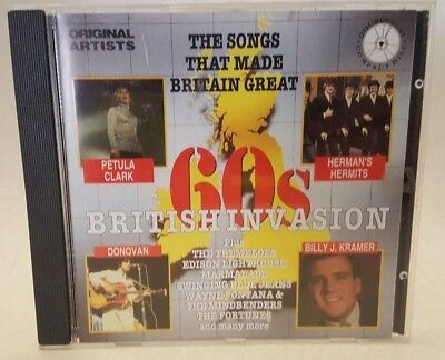 60s British Invasion CD by Various (1993, Fat Boy Records, 20 Tracks)
