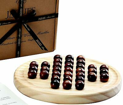 Solitaire Game-Wooden Marble Solitaire-Solid Wooden Marbles-Jaques of London Gam
