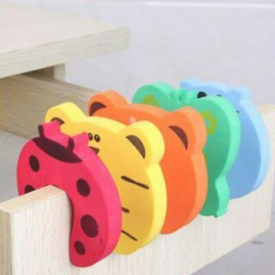5Pcs/Lot Protection Baby Safety Cute Animal Security Door Stopper Baby Card Lock