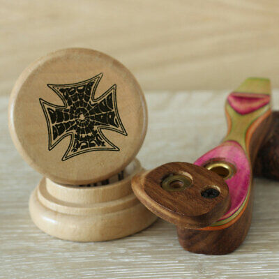 Pink Hand Crafted Smoking Pipe Tobacco pot Premium Wood Pipe & 2pc herb Grinder