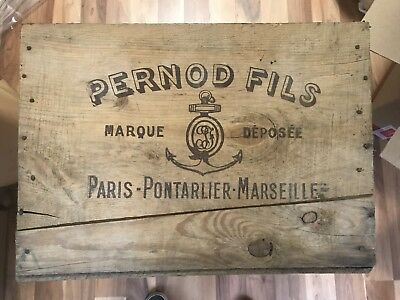 Vintage Pernod Fils French Embassy Washington Absinthe Crate Embassade De France