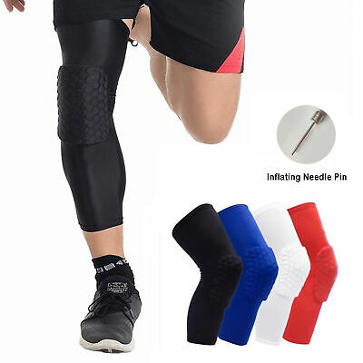 f15244da65 Honeycomb Padded Knee Sleeves Basketball Volleyball Knee Pads Kid Youth &  Adult