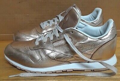 2ae37d7a6d5ce REEBOK CLASSIC LEATHER MELTED METAL WOMEN S SNEAKERS. Sz 6 -  65.00 ...