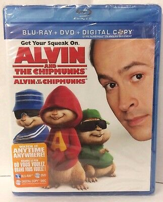 Alvin and the Chipmunks Blu-ray & DVD, NEW, SEALED