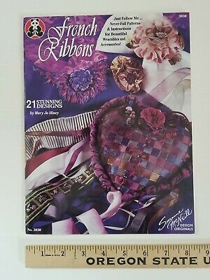 FRENCH RIBBONS by Suzanne McNeill Ribbon Embroidery Needlework Accessories Book