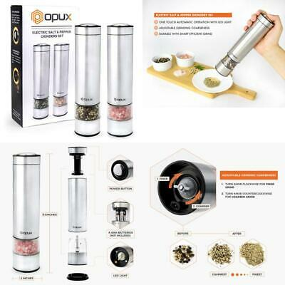 fa2c9994f4f0 Opux Premium Electric Salt And Pepper Grinder Set With Led Light | Automatic  Sal
