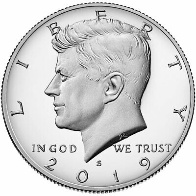 2019 S Kennedy Half Dollar Gem Deep Cameo 99.9% Silver Proof