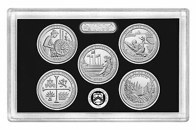 2019 S National Park Quarter 5 Coin Set 99.9% Silver No Box or CoA