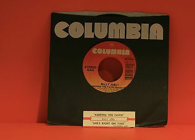 "Billy Joel - Keeping The Faith / She's Right On Time    -  7"" Single 45 S"