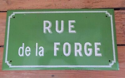 Enamel Original Vintage French Street Sign plaque