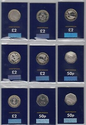 UK 50p & £2 coins UNC, BUNC & Silver Proof - Multi listing - your choice