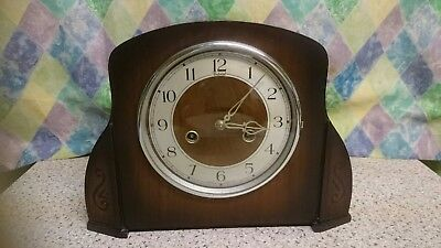Smiths Art Deco 8 Day Striking Mantel Clock G.W.O