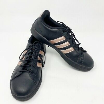 73e1b707f73 WOMENS ADIDAS NEO Cloudfoam Sneakers Size 7.5 Black And Rose Gold ...