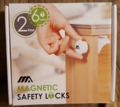 Adoric Magnetic Safety Locks 6 Pcs With 2 Keys