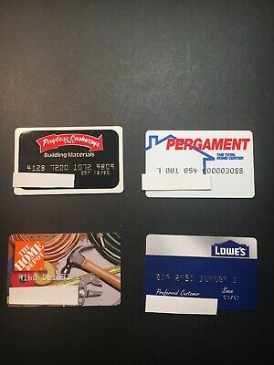 4 Expired Credit Cards For Collectors - Home Improvement Lot 4 (3253)