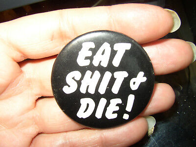 1 Vintage Pinback Button - Comical Tell them how you really feel