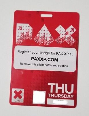 PAX EAST 2018 Thursday Badge | Pass | Ticket | April 5 | Priority Mail