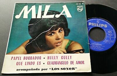MILA y '''LOS SONOR'' · Hully Gully· RARE SPANISH ORIGINAL ISSUE EP 7""