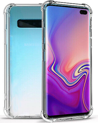 For Samsung Galaxy S10 Plus S10e Clear Transparent Shockproof TPU Bumper Case
