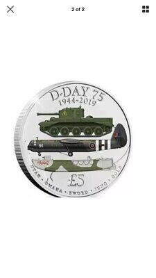 £5 D Day 75th Anniversary Coin Pounds Five 5