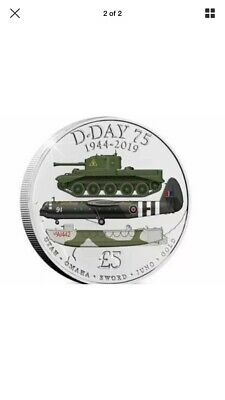 £5 D Day 75th Anniversary Coin Forces Five Pound