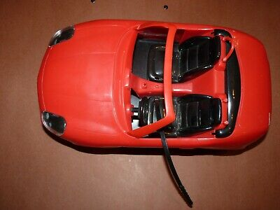 Vintage red Barbie car included seat belts well loved